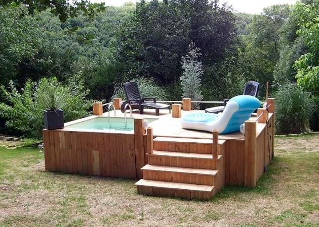 mini piscine bois. Black Bedroom Furniture Sets. Home Design Ideas