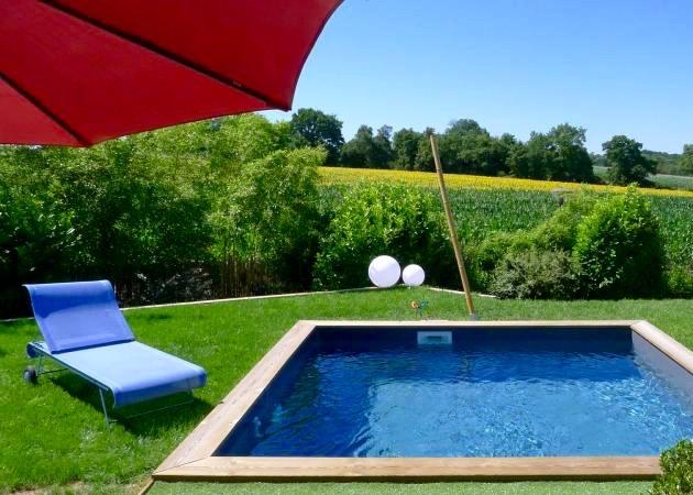 Mini piscine bois great piscine bois composite zodiac Piscine bois enterrable